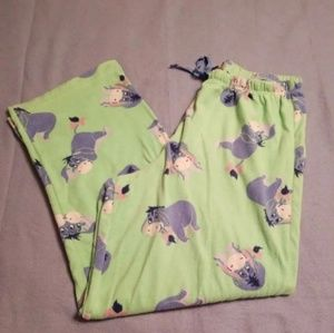 Disney Lime Green Eeyore Pajama Pants